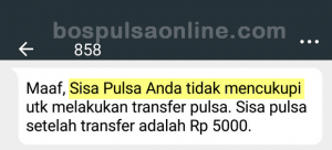 Transfer Pulsa Telkomsel Gagal
