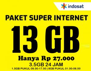 Indosat Super Internet 13GB Promo