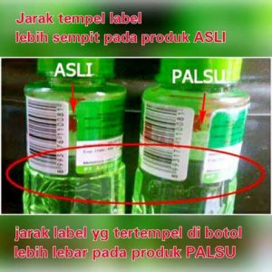 Jarak Label Minyak Kayu Putih