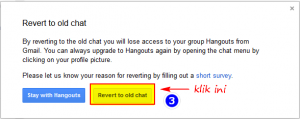 Hangouts Rever To Old Chat Confirmation
