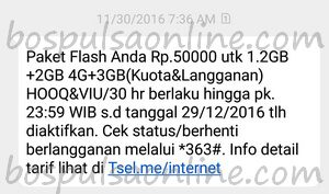 Paket Internet Telkomsel Flash Zona 369