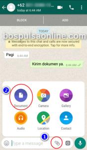 WhatsApp Kirim Dokumen