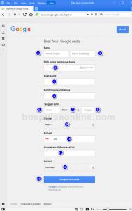 Email Gmail Baru (Isi Formulir)