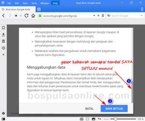 Cara Buat Email GMail Baru (Privasi dan Ketentuan)