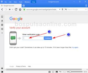Cara Buat Email GMail Baru (Masukan kode verifikasi)