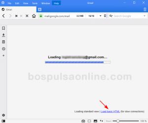 Gmail Load Pilihan Mode Tampilan