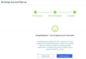 CoinSuper-Exchange-Registration-Complete