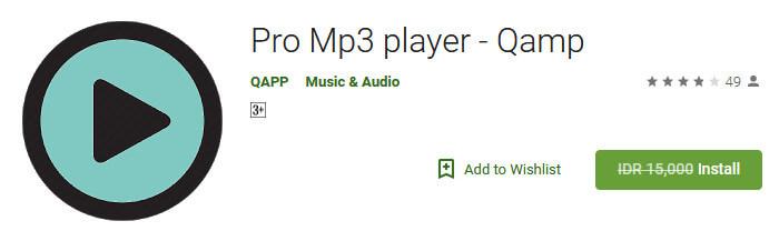 Aplikasi Android dan Games Android - Pro Mp3 player - Qamp
