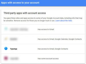 Gmail Apps With Access To Account