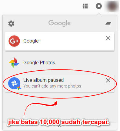 Google Photos Live Album Limit 10000