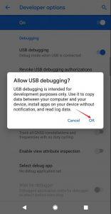 Google Pixel 3 USB Debugging