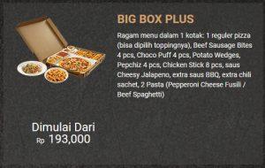 Harga Pizza Hut Big Box Plus