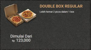 Harga Pizza Hut Double Box Regular