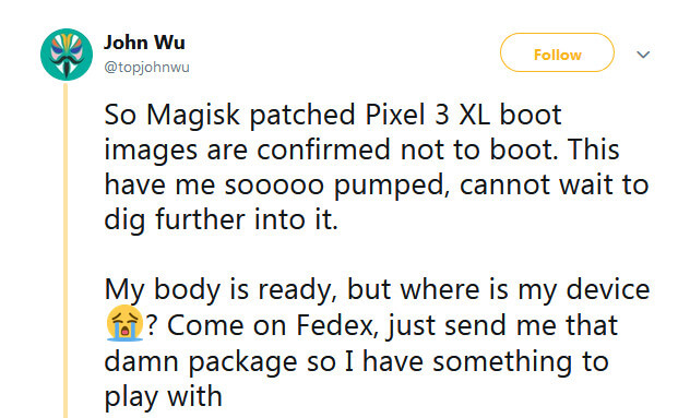 Magisk-patched Pixel boot images Solved