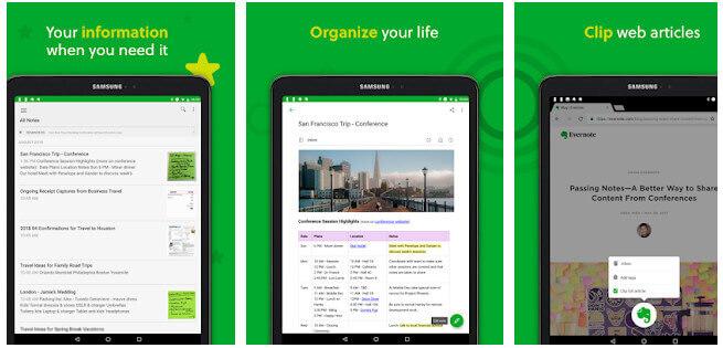 Aplikasi Android Terbaik Evernote