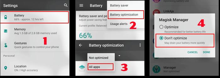 Baterai Tidak Dioptimalkan