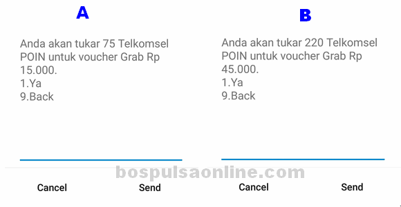 Voucher Grab Telkomsel Poin Nominal Voucher